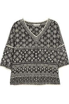 Étoile Isabel Marant Bela intarsia cotton-blend top | NET-A-PORTER (315usd) 3.11.14