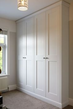 fitted wardrobes 4 door shaker wardrobes made and fitted by TW Bespoke in Burton on Trent Bedroom Built In Wardrobe, Bedroom Built Ins, Bedroom Closet Design, Diy Wardrobe, Home Bedroom, Build In Wardrobe, Built In Wardrobe Ideas Layout, Armoire Wardrobe, Bedroom Closet Doors