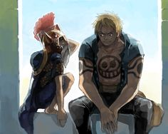 Luffy and Bellamy by 清井