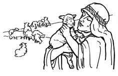 Shepherd and Lost Sheep Coloring Page
