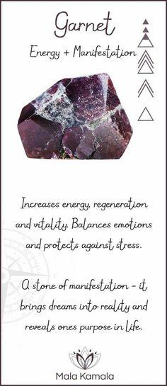 Garnet: energy & manifestation