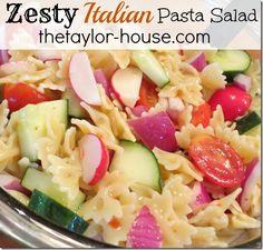Zesty Italian Pasta Salad #recipe http://www.thetaylor-house.com/2013/05/20/zesty-italian-pasta-salad.html