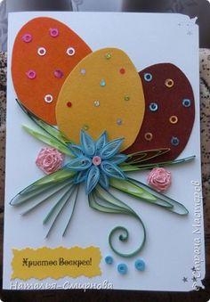 Добрый вечер! Сегодня я к Вам с пасхальными открытками. Некоторые идеи нашла на просторах интернета. фото 6