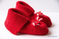 ♥ Baby-Schühchen Merino ♥  von ♥ Winzelpütt auf DaWanda.com