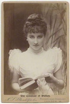 Georgina Elizabeth Ward (née Moncreiffe), Countess of Dudley by Hayman Seleg Mendelssohn albumen cabinet portrait, 1880s