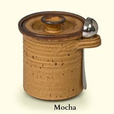 Pottery Coffee Canister  Handmade Stoneware by MountainArtsPottery