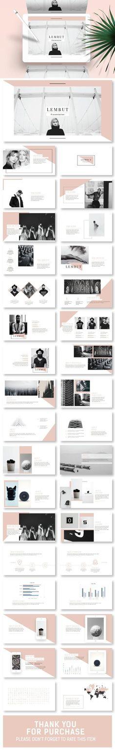 Lembut Minimal Keynote Template - Keynote Creative Presentation Template by Slider_Tackle. Powerpoint Template Free, Creative Powerpoint Templates, Keynote Template, Presentation Design, Presentation Templates, Keynote Presentation, Layout, Web Design, Graphic Design