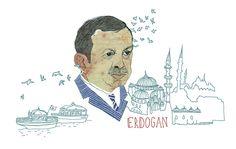 Erdogan Portrait, editorial illustration www. Portrait Editorial, Illustrations, Art, Art Background, Illustration, Kunst, Performing Arts, Art Education Resources, Illustrators
