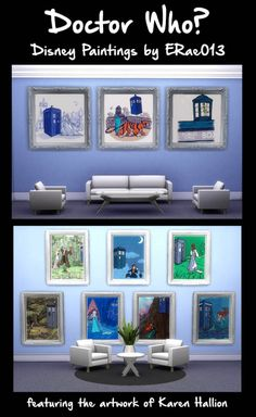 Adventures in Geekiness: Doctor Who? Disney Paintings by ERae013 • Sims 4 Downloads