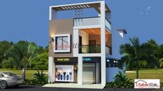 Home And House Design - Home Decorating Single Floor House Design, Duplex House Design, Small House Design, Modern House Design, Duplex Floor Plans, House Floor Plans, Contemporary House Plans, Modern House Plans, Building Front