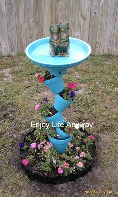 Enjoy Life Anyway: DIY Bird Bath