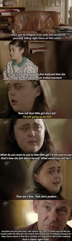 My Mad Fat Diary: When Rae tells her 10-year-old self she is perfect. | 29 TV And Film Moments That Helped People Love Their Bodies