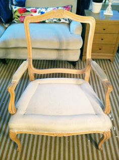 chair reupholstery tutorial