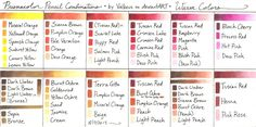 Prismacolor Pencil Combinations II - Warm Colors by Valkeus on deviantART