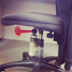 Do this to a teachers chair or put it in a chair in the library