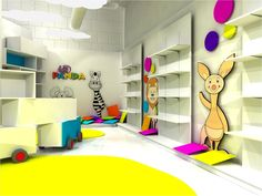 Proyecto de espacio comercial para Canal Panda / Canal Panda Showroom - Archkids. Arquitectura para niños. Architecture for kids. Architecture for children.