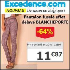#missbonreduction; Economisez 64 % sur le Pantalon fuselé effet délavé BLANCHEPORTE chez Excedence.http://www.miss-bon-reduction.fr//details-bon-reduction-Excedence-i246-c1837111.html
