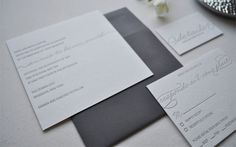Modern Gray Wedding Invitations