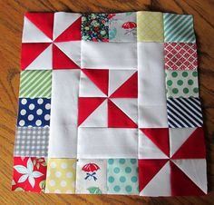 Spins & Squares block tutorial by Craftyammie ~ The possibilities are endless with thousands of fabrics to choose from at the Fabric Shack at http://www.fabricshack.com/cgi-bin/Store/store.cgi