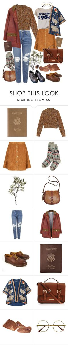 """""""let's go"""" by paper-freckles ❤ liked on Polyvore featuring Royce Leather, Monki, Crate and Barrel, FOSSIL, Topshop, FrenchTrotters femme, Dr. Martens, Zara, Carvela Kurt Geiger and Retrò"""