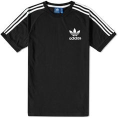 Adidas California Tee ($41) ❤ liked on Polyvore featuring men's fashion, men's clothing, men's shirts, men's t-shirts, tops, men, shirts, t-shirts, mens striped shirt and mens slim fit short sleeve shirts