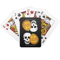 J and Skully Playing Cards - home decor design art diy cyo custom