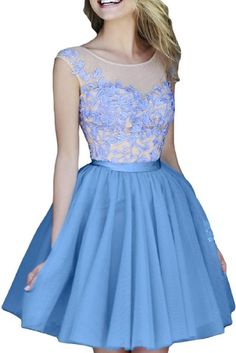 Sunvary Lace and Tulle Mini Cocktail Homecoming Dresses Juniors