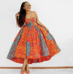 Latest African Fashion Dresses, African Dresses For Women, African Print Dresses, African Print Fashion, African Attire, Ankara Fashion, Modern African Dresses, Africa Fashion, African Prints