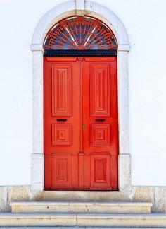 Red door in Mertola, Portugal by shootdiem on @creativemarket
