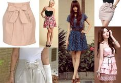 "Saias e vestidos ""ladylike"""