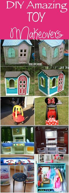 DIY Amazing Toy Makeovers - don't throw out that junk - upcycle it! Look for some of these amazing finds at garage sales this season and turn them into these great toys your kids will love!