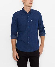 Levi's Sunset One Pocket Shirt - Indigo Dobby Dot - Shirts