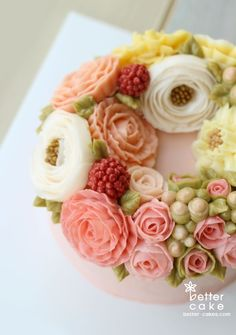 [베러케이크 정규클래스 후기] wreath 리스 버터크림플라워케이크- 공덕마포케익/베이킹클래스 : 네이버 블로그