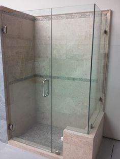 Bathroom  Simple Frameless Shower Door And Neutral Wall Tile Filling In Contemporary Home Interior Design Frameless Shower Doors Complete the Captivating Master Bathroom Interior Design