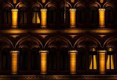 Willy Meyer+Sohn GmbH+Co. KG - Lichttechnische Spezialfabrik - No 1 Martin Place Accent Lighting, Madonna, Blue And White, Instagram Posts, Led, Architecture