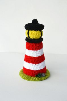 Lighthouse - Nautical Sea Theme - Amigurumi Toy - CROCHET PATTERN No.130 by Joyce Overheul