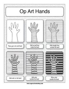 Op Art and the Elements of Art - Expressive Monkey - TeachersPayTeachers.com sub lesson