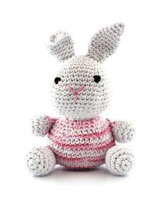 Hoooked Bunny (marshmallow swirl pink) amigurumi crochet kit & pattern #crochet #gift #cute #animal #craft