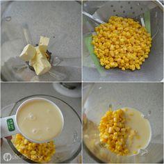 Pan de elote (receta fácil con elote de lata o congelado)   http://www.pizcadesabor.com/2014/09/24/pan-de-elote-amarillo-receta-facil-con-elote-de-lata-o-congelado/