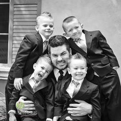 #family #wedding #photo #black and #white #father and #sons  More Wedding Ideas at www.facebook.com/villasiena