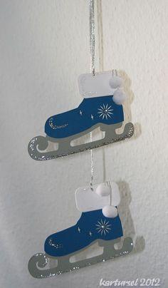 Schlittschuh als Fensterdeko - creadoo.com
