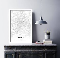 Mappa Poster Roma