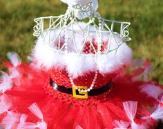 Santa Tutu Christmas Tutu Holiday Tutu by FreckledStrawberrie