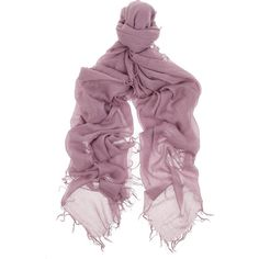 Chan Luu Cashmere and silk-blend scarf ($120) ❤ liked on Polyvore featuring accessories, scarves, lavender, fringe scarves, fringed shawls, chan luu, cashmere shawl and cashmere scarves