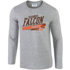 BGSU Falcon Fast Football Long Sleeve T Shirt – BG Memories | BGSU T-Shirts