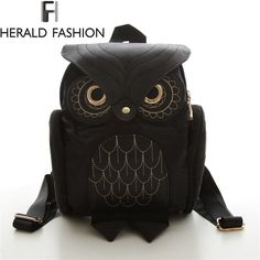 =>>Save onWomen Backpack 2016 Newest Stylish Cool Black PU Leather Owl Backpack Female Shoulder Bag School Bags Herald Fashion mochilaWomen Backpack 2016 Newest Stylish Cool Black PU Leather Owl Backpack Female Shoulder Bag School Bags Herald Fashion mochilareviews and best price...Cleck Hot Deals >>> http://id574928036.cloudns.hopto.me/32663443107.html images