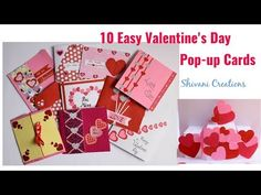 Valentine's Day Pop up Cards in 10 Different ways/ 10 Easy Love Pop up C. Kids Art Class, Art For Kids, Love Pop Up Cards, Quilling Birthday Cards, Diy Valentines Cards, Slider Cards, Valentine Day Special, Fun Diy Crafts, New Year Card