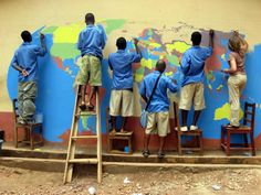 Peace Corps World Map Project--if it is good enough for Ghana, it is good enough for your kid's bedroom.