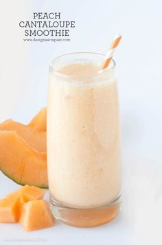 Single Serving Peach Cantaloupe Smoothie - Design. Eat. Repeat.
