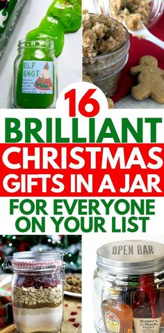 15 DIY Christmas gifts in a jar for everyone on your list. Mason Jar Christmas G. 15 DIY Christmas gifts in a jar for everyone on your list. Mason Jar Christmas Gifts for Coworkers, Diy Christmas Gifts For Coworkers, Mason Jar Christmas Gifts, Diy Christmas Gifts For Family, Diy Christmas Mason Jar Gifts, Christmas Ideas For Gifts Diy, Handmade Christmas, Cheap Gifts For Coworkers, Easy Homemade Christmas Gifts, Unique Gifts For Kids